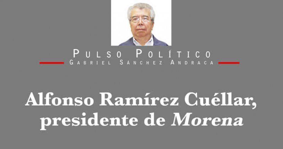 Alfonso Ramírez Cuéllar, presidente de Morena