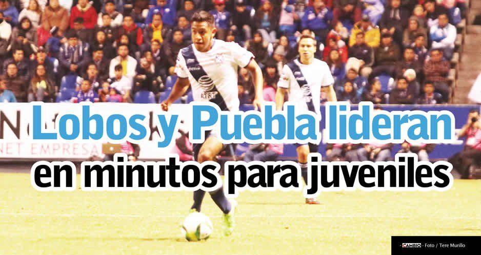 Lobos y Puebla lideran en minutos para juveniles