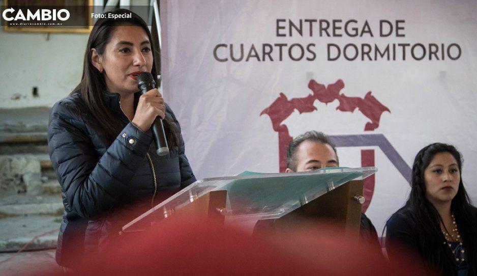 Alcaldesa Angélica Alvarado arranca con programa 'Hogar Digno' en Huejotzingo