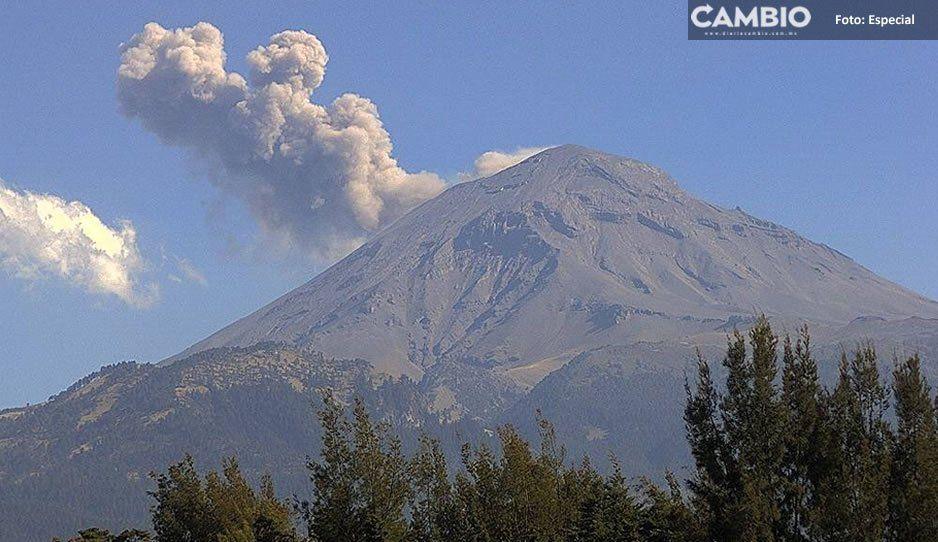 Explosión pasó desapercibida para habitantes de las faldas del Popocatépetl