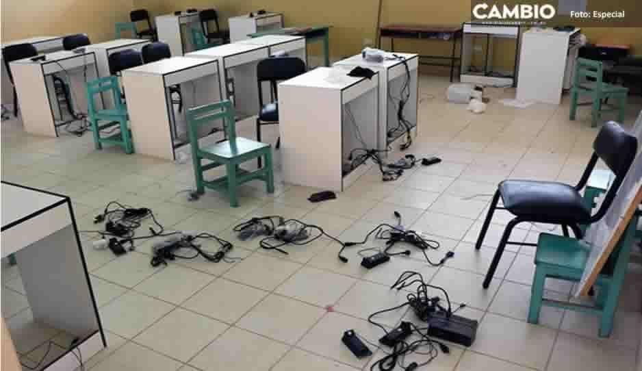 Otro robo a escuela: sustraen computadoras de secundaria Hermanos Serdán en Santa Rita Tlahuapan