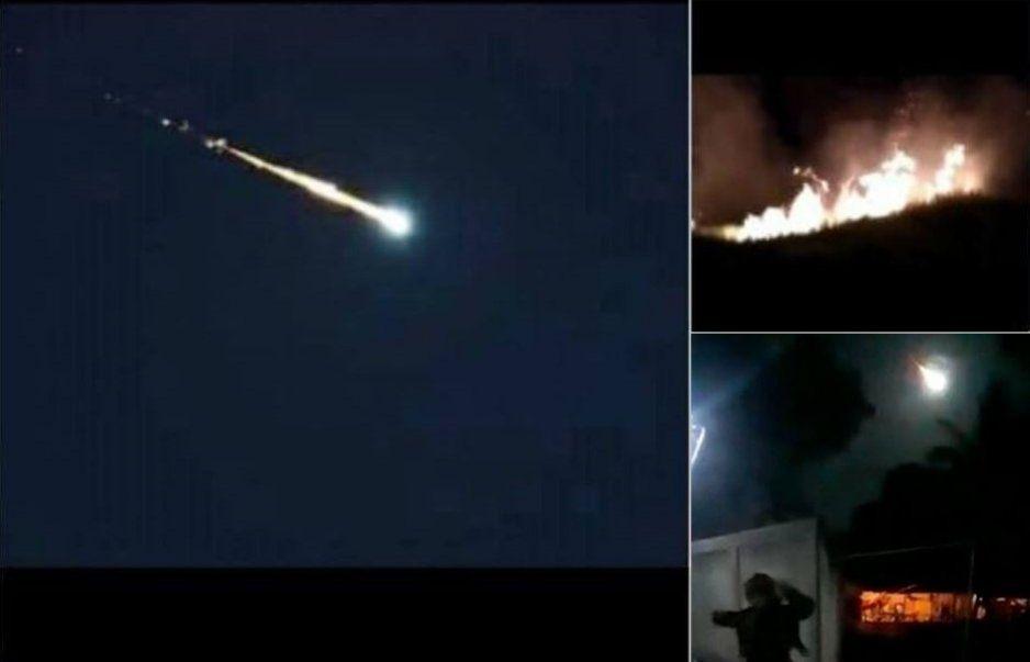 Cae meteorito en Venezuela y provoca incendios (VIDEO)