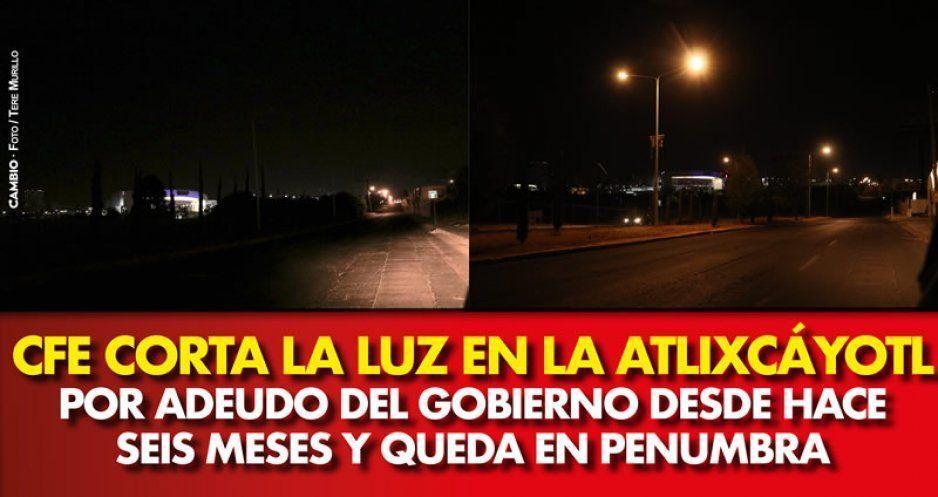 CFE corta la luz en la Atlixcáyotl por adeudo del gobierno desde hace seis meses y queda en penumbra (VIDEO)