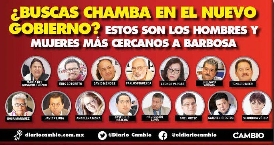 ¿Buscas chamba en el nuevo gobierno? Estos son los hombres y mujeres más cercanos a Barbosa