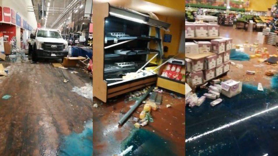 Comando armado irrumpe Walmart de Celaya y dejan un cochinero (VIDEO)