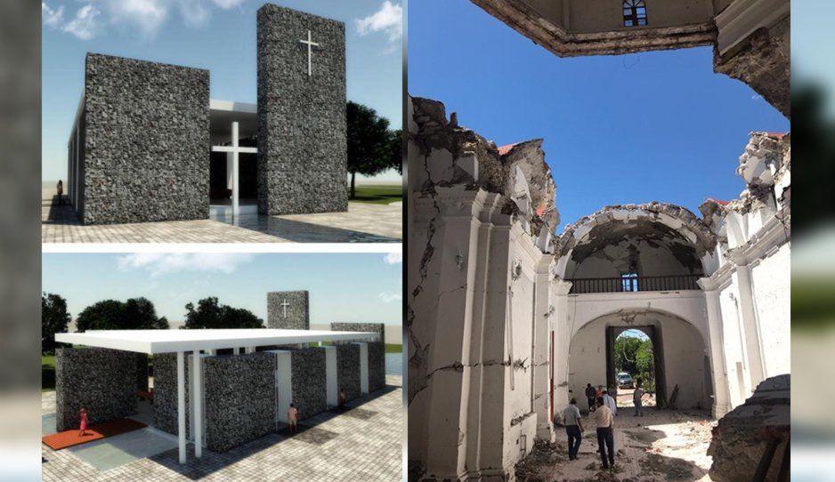 Así quedará la iglesia de Atzala, donde fallecieron 12 personas en el 19-S
