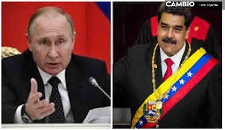Putin expresa su apoyo a Maduro en llamada telefónica