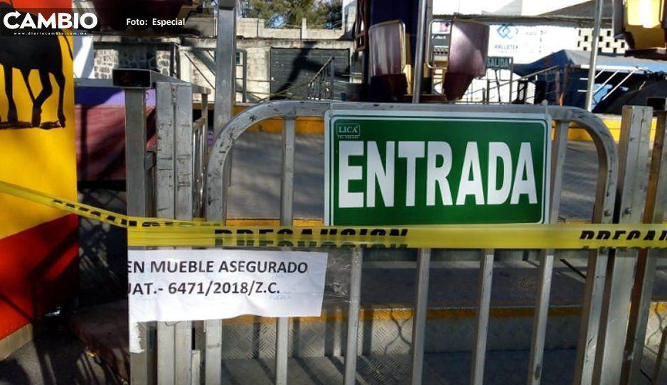 Inmovilizan rueda de la fortuna de  Villa Iluminada por proceso judicial