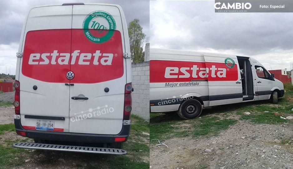 Asaltan violentamente a chófer de Estafeta en la colonia Lomas de Santa Catarina