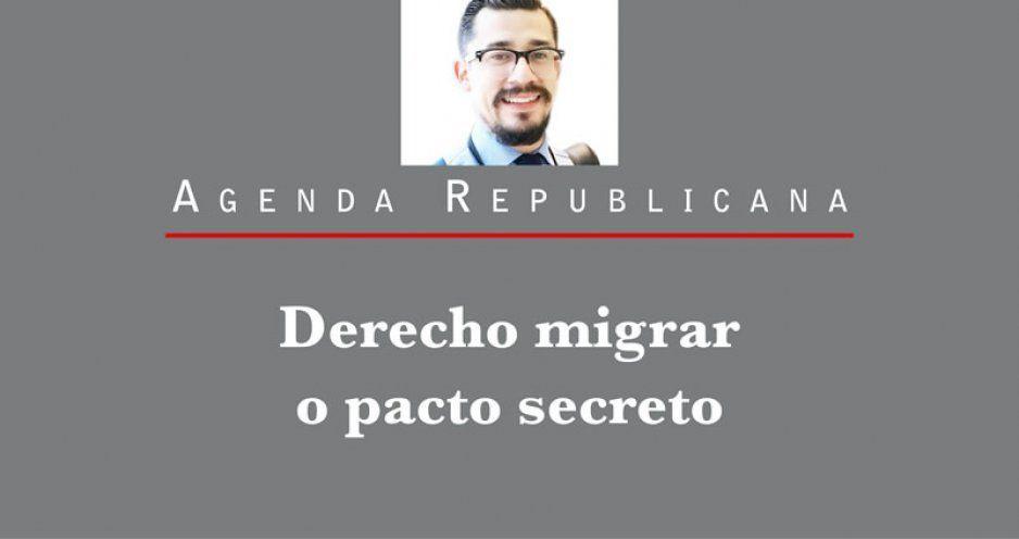 Derecho migrar o pacto secreto