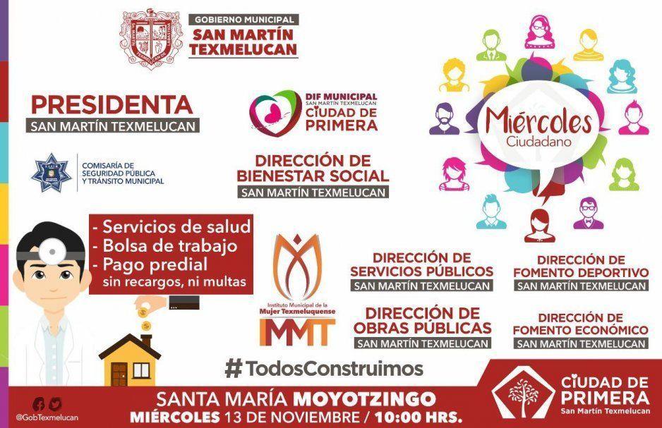 Norma Layón invita al Miércoles Ciudadano este 13 de noviembre en Santa María Moyotzingo