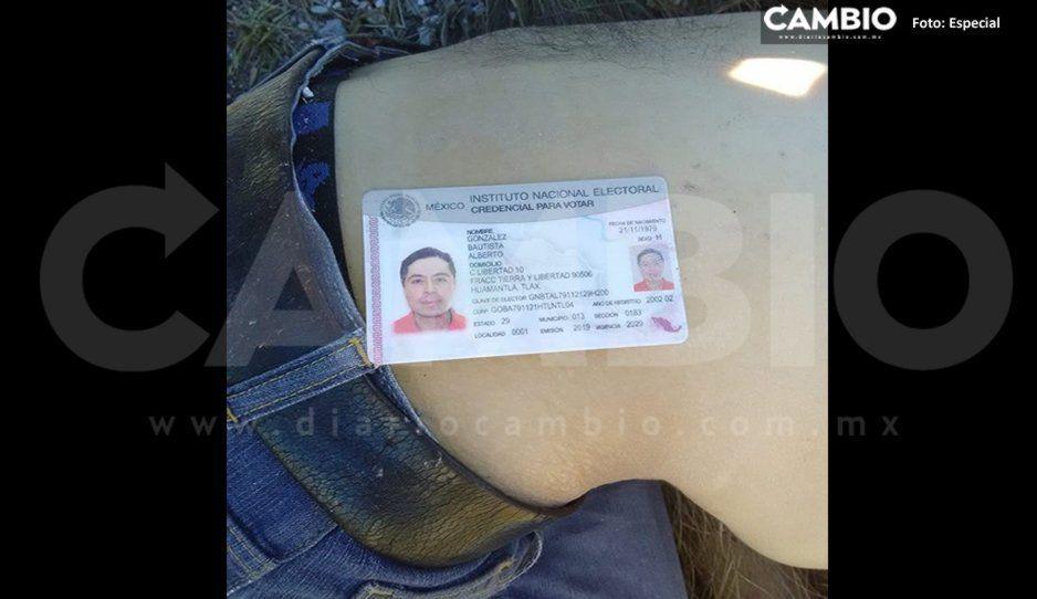 Encuentran muerto a hombre de 40 años en la carretera La Venta -Acajete