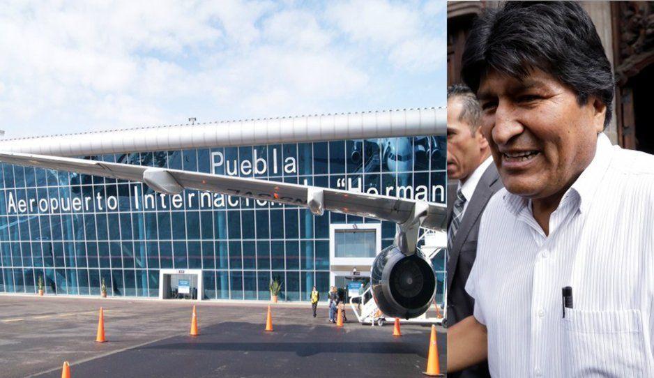 Evo Morales estuvo en Puebla un par de horas (VIDEO)