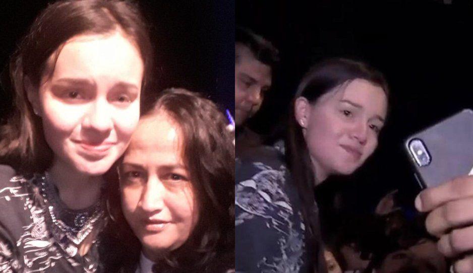 Sarita Sosa se tomó el tiempo para repartir selfies durante el homenaje a José José