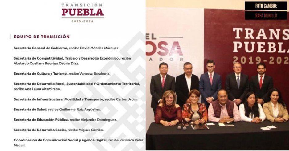 OFICIAL: Ellos serán parte del equipo de transición de Miguel Barbosa (FOTO)