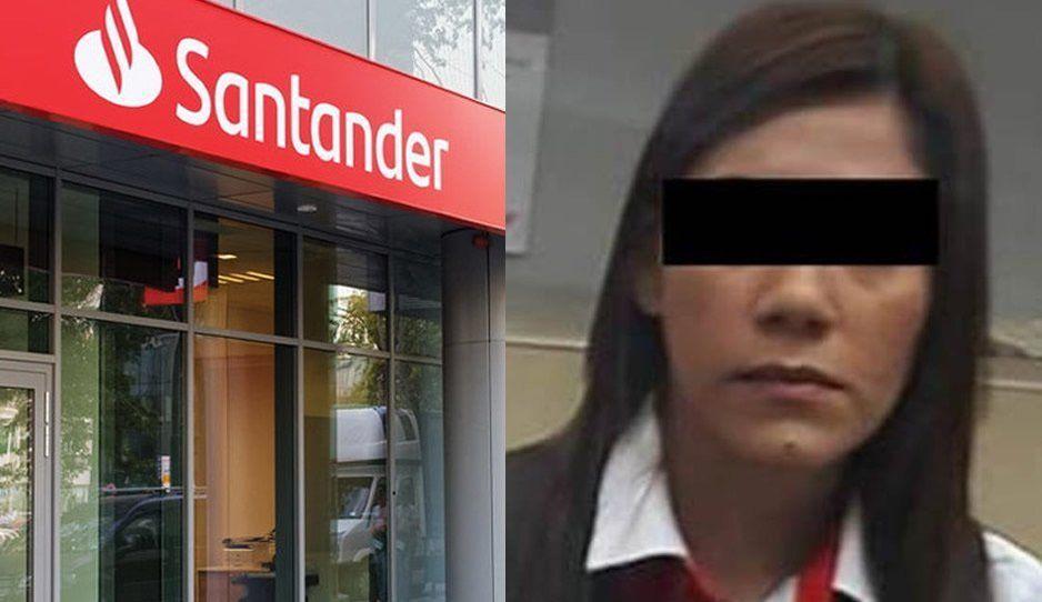 Santander defiende a cajera: no es cómplice de rateros que asaltaron a cuentahabiente