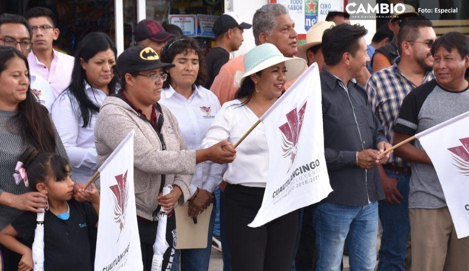 Alcaldesa Lupita Daniel arranca obras en  San Lorenzo Almecatla y Cuautlancingo