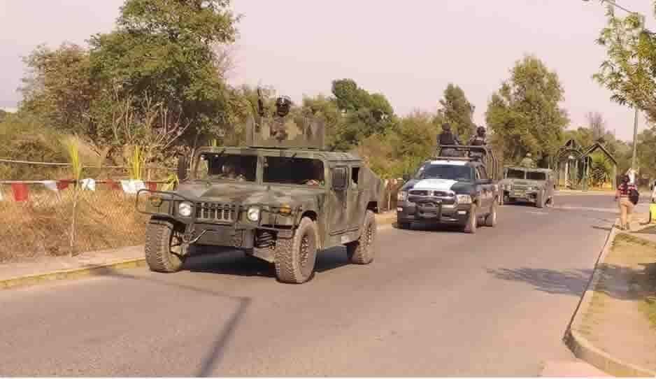 Ejército y Gendarmería realizan operativo para reforzar la seguridad de Coronango