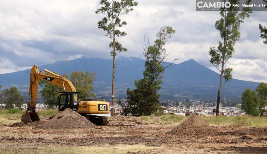 Levantan clausura a obras de Amalucan: pueden seguir si reparan daño ambiental