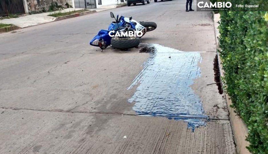 A plena luz del día ejecutan a motociclista en Chignahuapan
