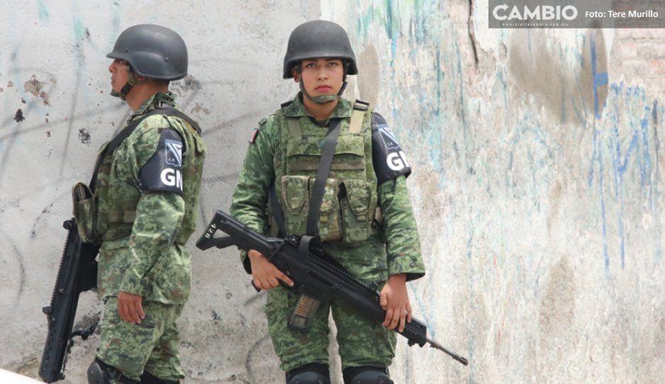 Recuperan fusiles robados en Tlaxcala a  Guardia Nacional en Nopalucan, Puebla