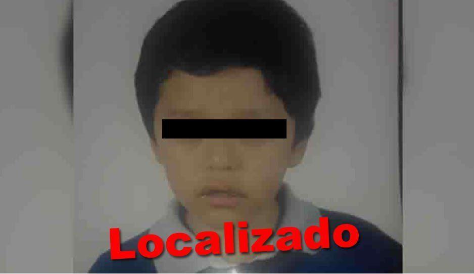 Localizan al pequeño Jesús Alexander Hernández de 11 años