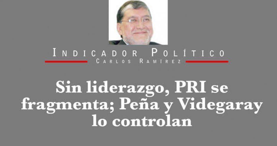 Sin liderazgo, PRI se fragmenta; Peña y Videgaray lo controlan