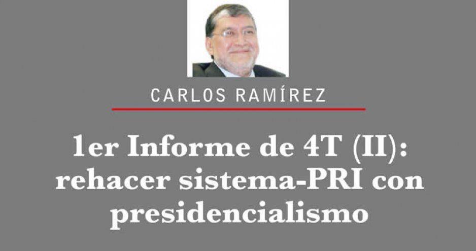 1er Informe de 4T (II): rehacer sistema-PRI con presidencialismo