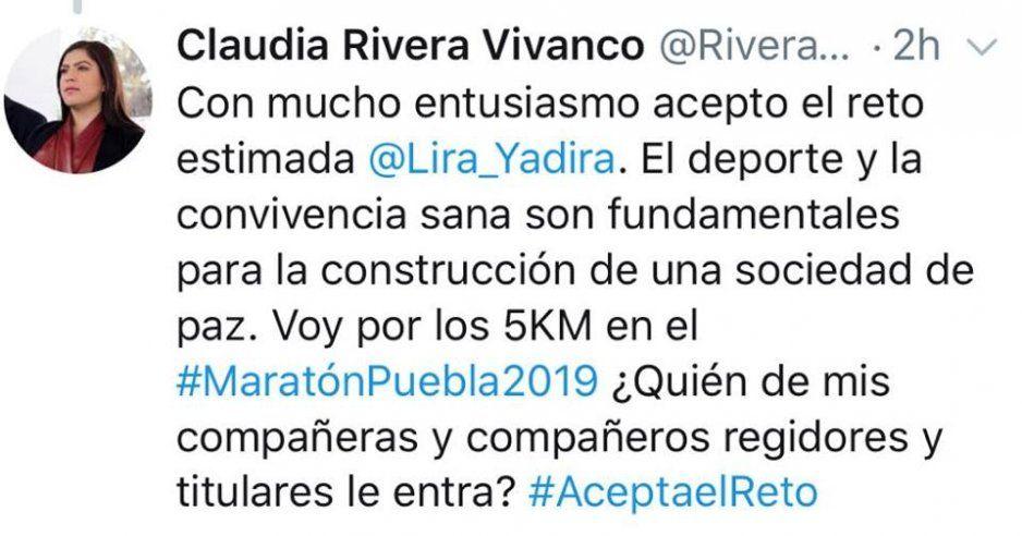 ¡Ya es un hecho! Claudia runner correrá el Maraton Puebla 2019 (VIDEO)