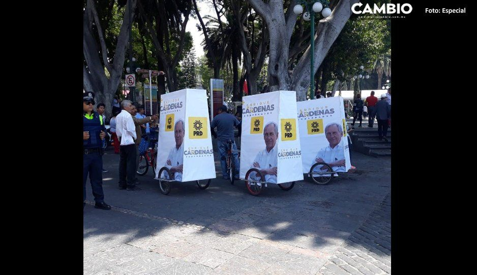 PRD viola Coremun al hacer proselitismo en el Zócalo a favor de Enrique Cárdenas