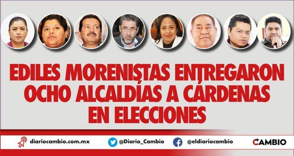 Ediles morenistas entregaron ocho alcaldías a Cárdenas en elecciones