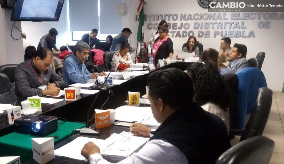 Consejo distrital 05 en Texmelucan revisará 134 paquetes electorales