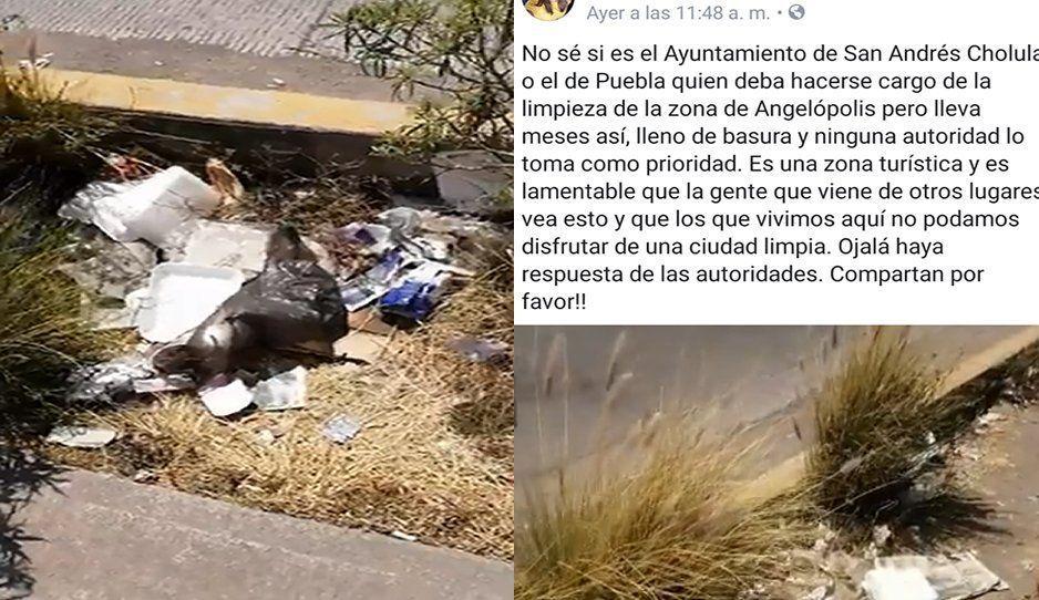 Exhiben cochinero en la zona de Angelópolis: autoridades brillan por su ausencia