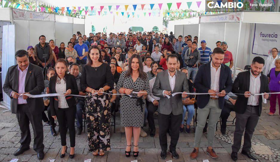 Norma Layón inaugura Feria de Empleadores y Candidatos en Texmelucan