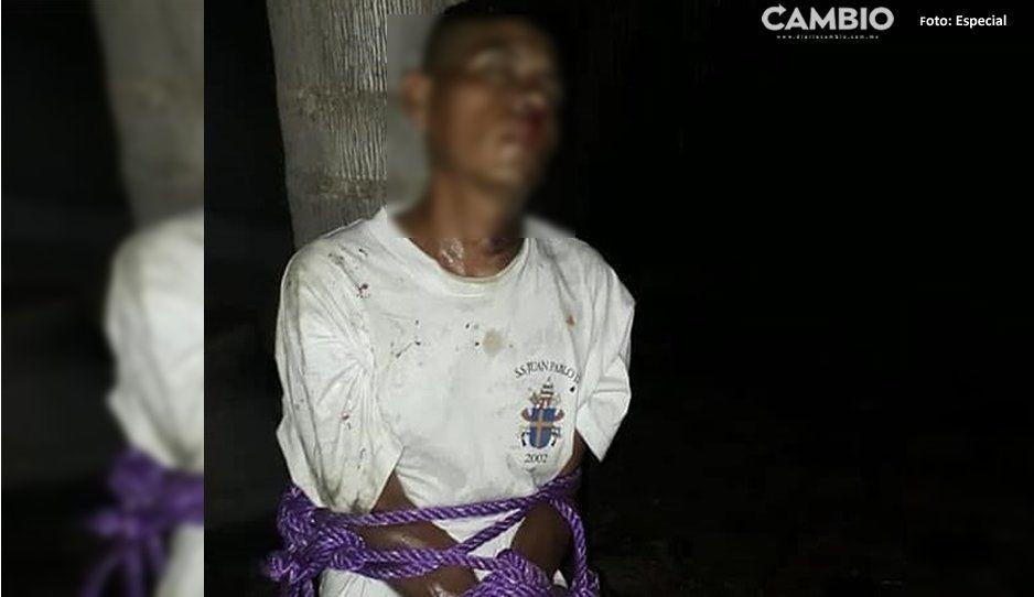 Casi le prenden fuego a sujeto que levantó a quinceañera en Izúcar