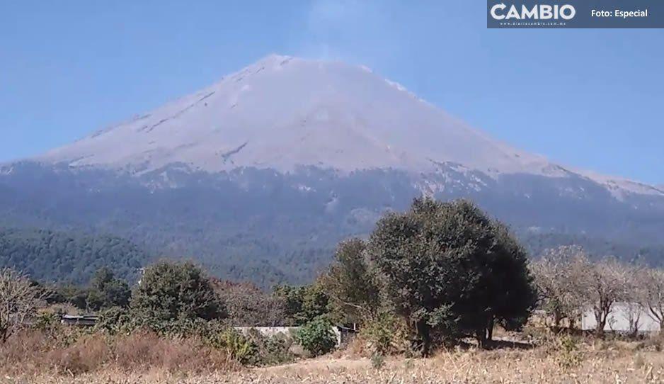 Popocatépetl no se puede escalar aunque haya bajado a Fase 2: PC Atlixco