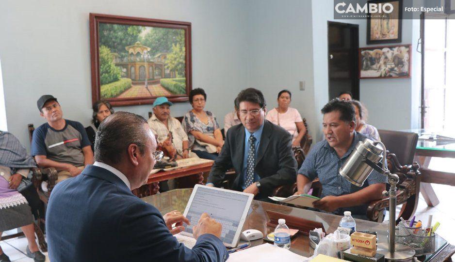 Alcalde Memo Velázquez atiende  solicitudes ciudadanas en Atlixco