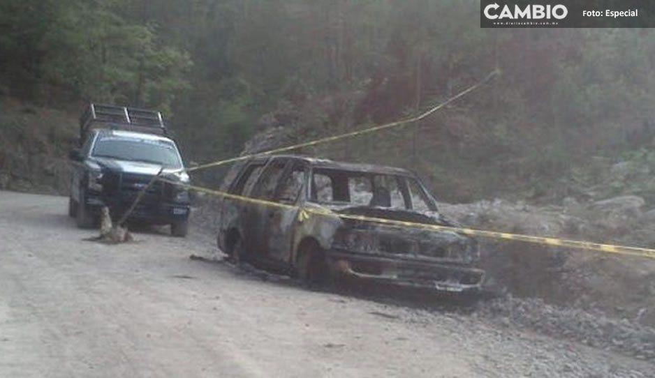 Se trataría de roba ganado los sujetos hallados calcinados dentro de una camioneta en Huauchinango