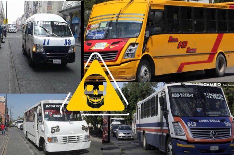 Rutas de la muerte: Estos camiones te ofrecen el PEOR servicio de Puebla