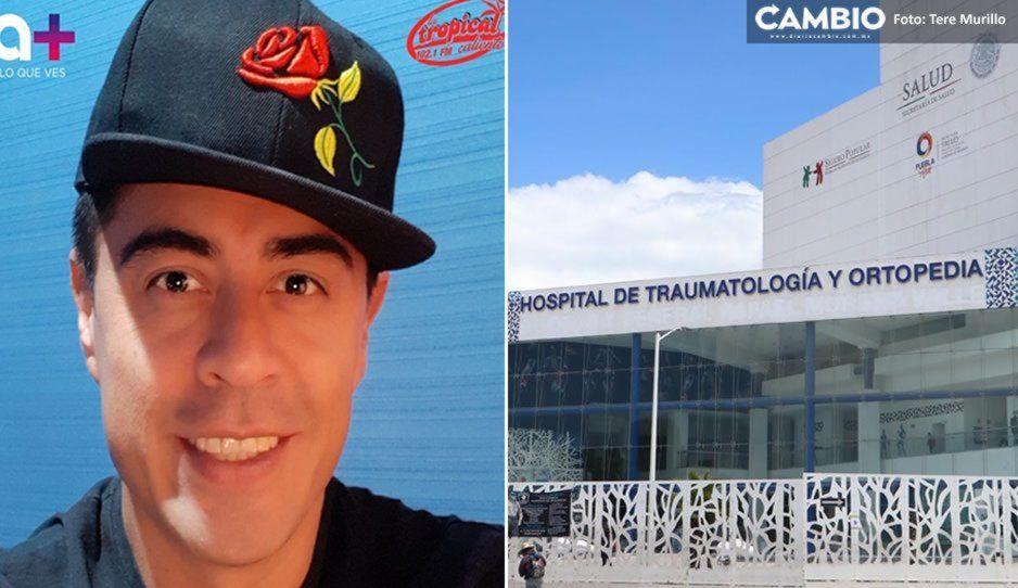 Trasladan a Gabo Aceves al Hospital Traumatología y Ortopedia; poblanos oran por él