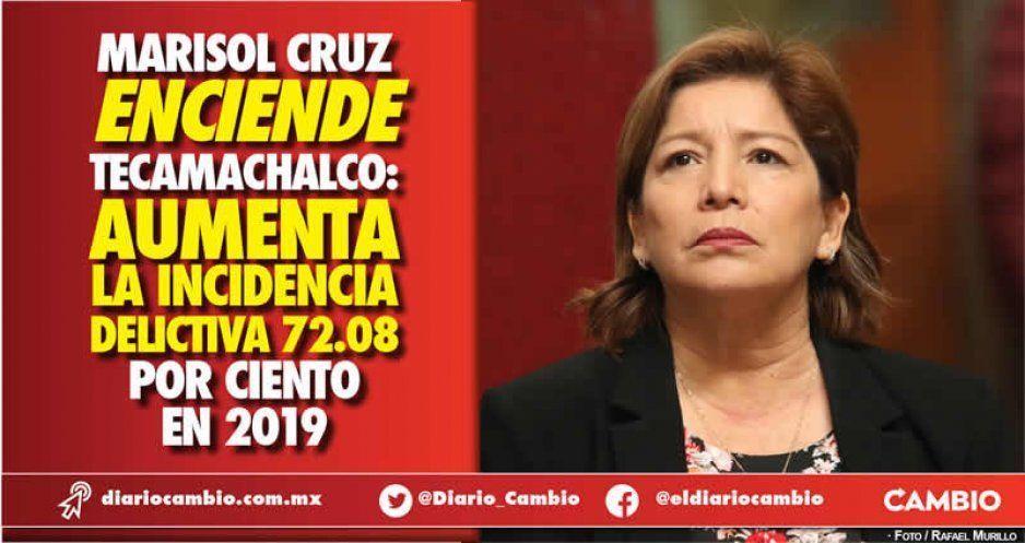 Marisol Cruz hunde Tecamachalco: delincuencia incrementó 78 %
