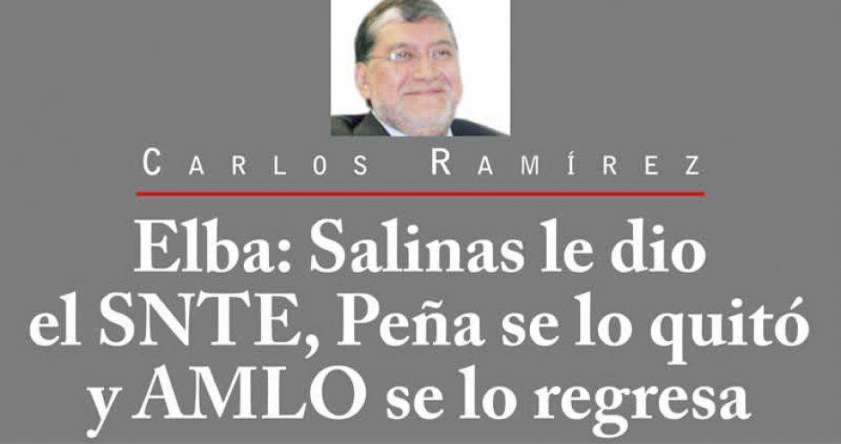 Elba: Salinas le dio el SNTE, Peña se lo quitó y AMLO se lo regresa
