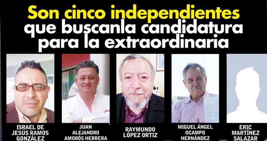 Son cinco independientes que buscan la candidatura para la extraordinaria