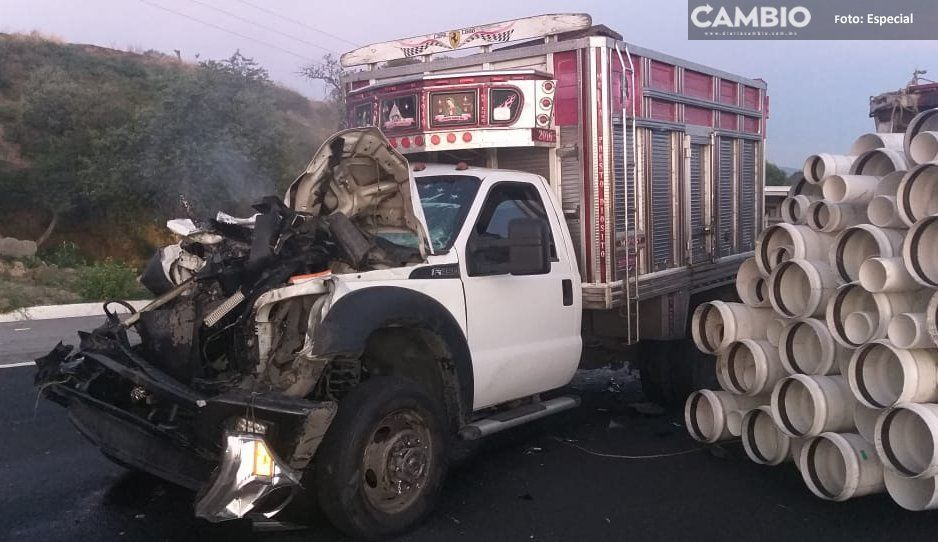 Choque en la Autopista México-Puebla provoca tráfico pesado