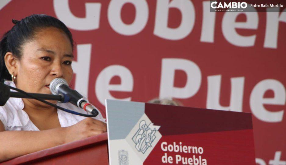 Afirma alcaldesa de Tepexco que su municipio no vivirá con miedo y agradece el apoyo de Barbosa