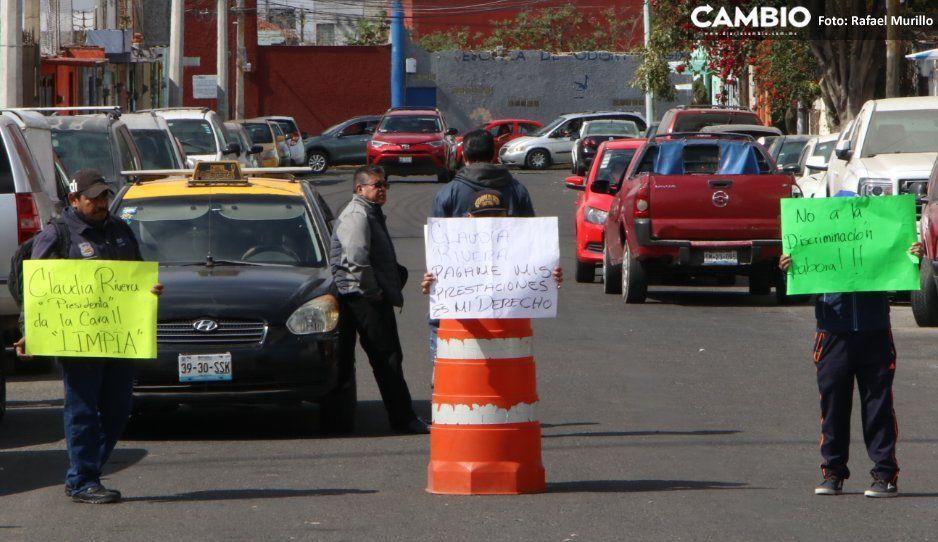 Sin piedad: Comuna cesa a trabajadores  de Limpia que cerraron el Bulevar Atlixco
