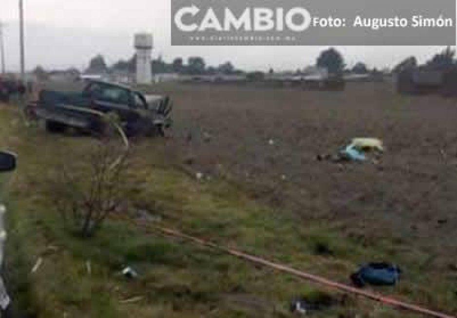 Por exceso de velocidad mueren tres tripulantes de motocicleta en Ciudad Serdán
