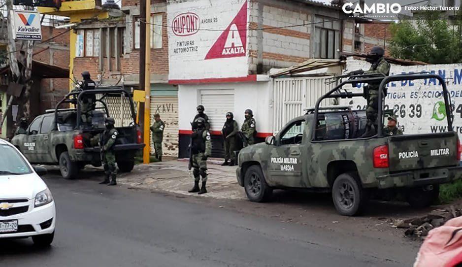 Estatales, federales y Guardia Nacional realizan puntos de revisión en Texmelucan