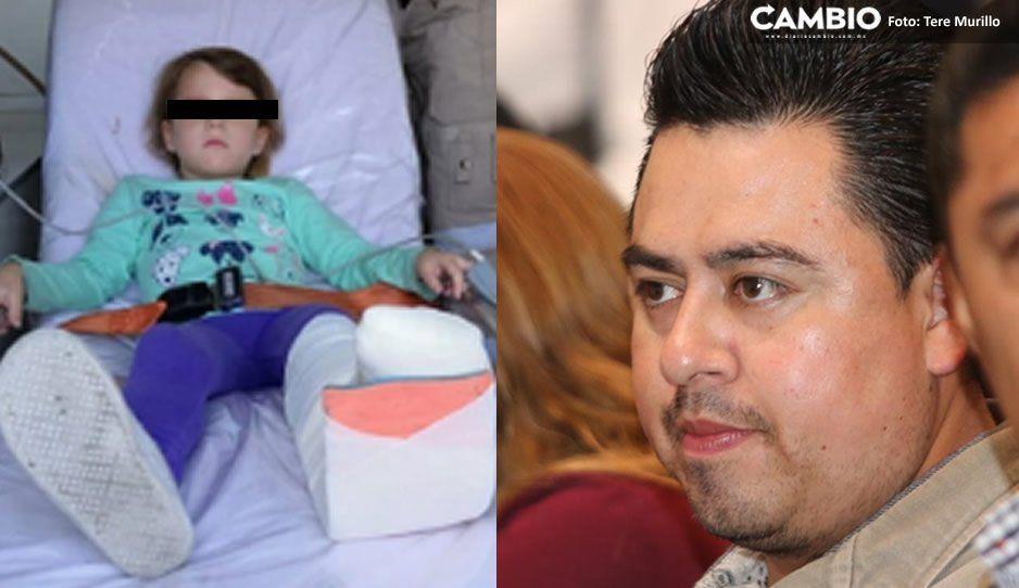 González Acosta pide a la plaza Angelópolis hacerse cargo de los gastos médicos de Valeria