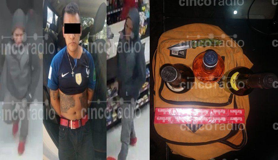 Rata se quedó sin su borrachera: cae tras robar tres pomos y cajetillas de cigarros en Oxxo de la Guadalupana